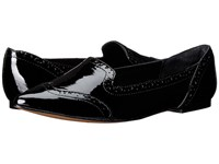Isola Christie Black Goat Crinkle Patent Women's Flat Shoes