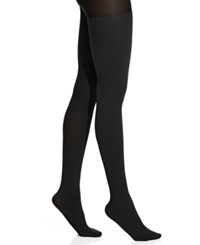 Hue Ribbed Opaque Tights With Control Top Tights Black