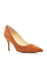 Ivanka Trump Tirra Suede Pointed Toe Pumps Brown