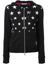 Guild Prime Star Print Zipped Hoodie Black