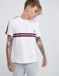Brooklyn Supply Co. Co T Shirt With Sleeve And Chest Taping White