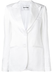 Each X Other Satin Tailored Jacket White