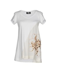 Via Delle Perle Vdp Collection T Shirts White