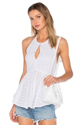 Elizabeth And James Eyelet Perth Top White