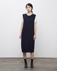 La Garconne Moderne Vintage Knit Dress Marine