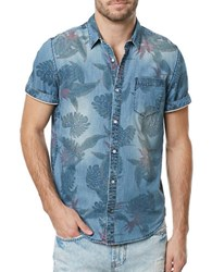 Buffalo David Bitton Tropical Chambray Sportshirt Indigo