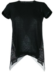 Sacai Eyelet Back T Shirt Black
