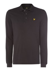 Lyle And Scott Men's Long Sleeve Classic Polo Black