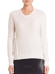 Atm Anthony Thomas Melillo Cable Knit Crewneck Sweater Shell