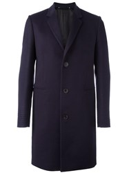 Paul Smith 'Gents' Single Breasted Coat Blue