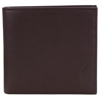 Ralph Lauren Polo Pebble Leather Wallet Brown