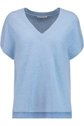 Duffy Ribbed Cashmere Sweater Light Blue