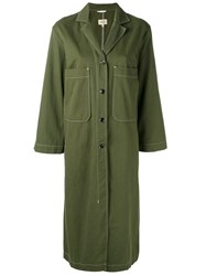 Bellerose Long Patch Pocket Coat Green