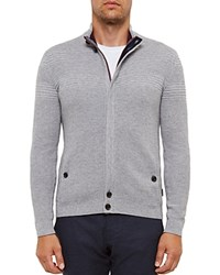 Ted Baker Dalle Regular Fit Cardigan Gray Marl