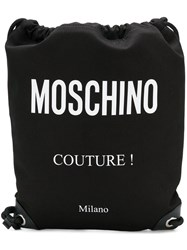 Moschino A76078203 1555 Natural Veg Cotton Black