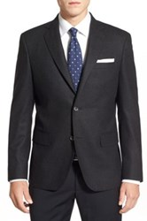 John W. Nordstrom Classic Fit Wool And Cashmere Blazer Gray