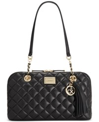 Calvin Klein Hastings Satchel Black Gold