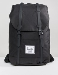 Herschel Supply Co Retreat Backpack In Black With Rubberised Straps Black