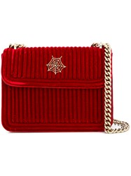 Charlotte Olympia Foldover Chain Bag Red