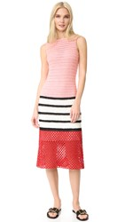 Novis Hand Crochet Dress Pink Black White