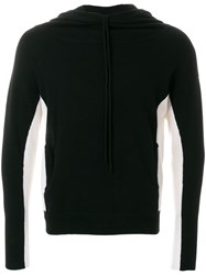 Unconditional Two Tone Knitted Hoodie Black