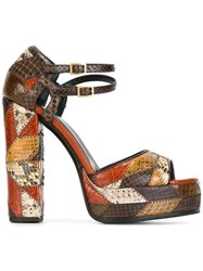 Roberto Cavalli 'Star Patch' Platform Sandals