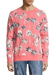 Wesc Marvin Graphic Printed Cotton Sweater Sunkist Coral