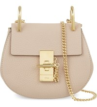 Chloe Drew Nano Saddle Cross Body Bag Cement Pink