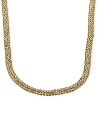 Macy's Byzantine Chain Rope Necklace In 14K Gold