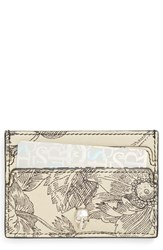 Alexander Mcqueen Women's Floral Sketch Leather Card Holder