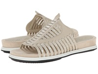Naya Kicker Light Taupe Leather Metallic Leather Women's Sandals Beige