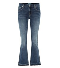 7 For All Mankind Cropped Boot Jeans Blue