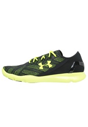 Under Armour Speedform Apollo Vent Lightweight Running Shoes Schwarz Neongelb Black