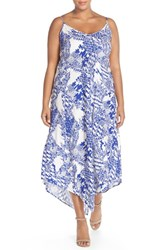Plus Size Women's City Chic 'Zig Zag' Print Maxi Dress