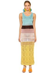 Missoni Color Blocked Crocheted Dress