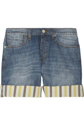 Marni Striped Cuff Denim Shorts
