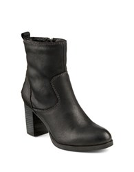 Sperry Dasher Grace Leather Ankle Boots Black