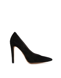 Whistles Izzy V Cut Pointed Court Shoes Black
