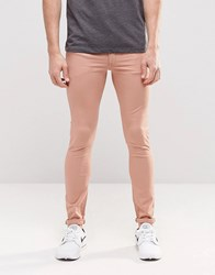 Asos Extreme Super Skinny Jeans In Pink Mahogany Rose