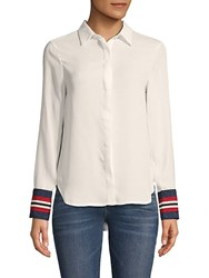 Lea And Viola Classic Long Sleeve Blouse White