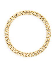 Adriana Orsini Hammered Link Collar Necklace Gold
