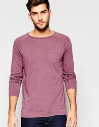United Colors Of Benetton Long Sleeve Top With Front Pocket Plum Purple