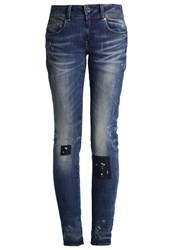 G Star Gstar Midge Cody Mid Skinny Straight Leg Jeans Destroyed Denim