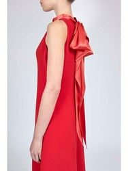 Alexis Mabille Evening Bow Back Red