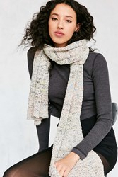 Urban Outfitters Space Dye Nubby Knit Scarf Cream