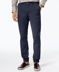 Tallia Men's Vicuna Slim Fit Stretch Jogger Dress Pants Navy