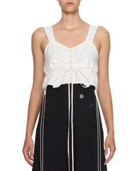 Chloe Sleeveless Cotton Crop Top White