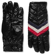Moncler Striped Quilted Shell Gloves Black