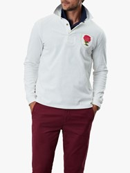 Joules Glory Long Sleeve Rugby Polo Shirt Antique Cream