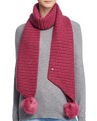 Ugg Scarf With Pom Poms 100 Bloomingdale's Exclusive Bougainvillea